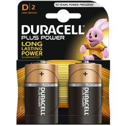 DURACELL Alkaline Batterie PLUS POWER, Mono D, 2er Blister