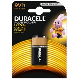 DURACELL Alkaline Batterie PLUS POWER, E-Block 9V, 1er