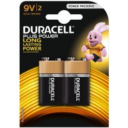 DURACELL Alkaline Batterie PLUS POWER, E-Block 9V, 2er