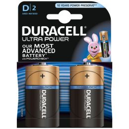 DURACELL Alkaline Batterie ULTRA POWER Mono D, 2er Blister