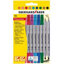 EBERHARD FABER Doppel-Fasermaler, 10er Kartonetui