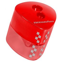 EBERHARD FABER Doppel-Spitzdose Winner, dreieckig, rot