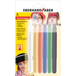 EBERHARD FABER Drehbares Schminkstifte-Set, 6 Farben