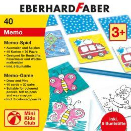 EBERHARD FABER Memo-Spiel zum Ausmalen, inkl. Buntstifte