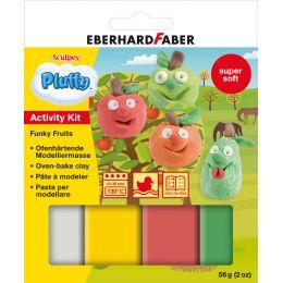 EBERHARD FABER Modellier-Set Pluffy Funky Fruit
