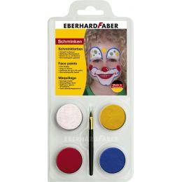 EBERHARD FABER Schminkfarben-Set Clown, 4 Farben