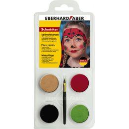 EBERHARD FABER Schminkfarben-Set Marienkäfer, 4 Farben