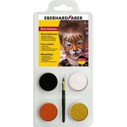 EBERHARD FABER Schminkfarben-Set Tiger, 4 Farben