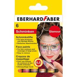 EBERHARD FABER Schminkstifte-Set Glamour, 6 Farben
