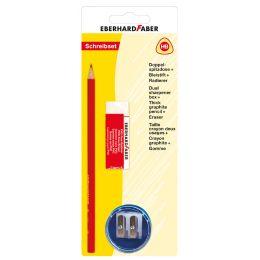 EBERHARD FABER Schreibset Bleistift + Spitzdose + Radierer