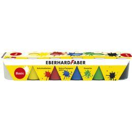 EBERHARD FABER Schulmalfarbe-Set EFA Color Basic, 6er Set