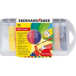 EBERHARD FABER Temperafarbe EFA Color, 10er Kunststoffetui