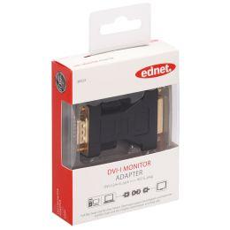 ednet Adapter, 15 Pol VGA Stecker - DVI-Kupplung 24+5 Pol