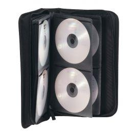ednet CD-/DVD-Tasche, für 48 CDs/DVDs, Nylon, schwarz