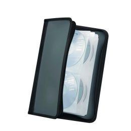 ednet CD/DVD-Tasche, für 56 CDs/DVDs, Nylon, schwarz