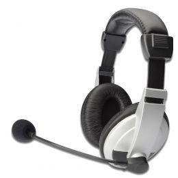 ednet Multimedia Headset, mit Mikrofon, schwarz / silber