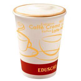 Eduscho Hartpapier-Kaffeebecher To Go, 0,2 l
