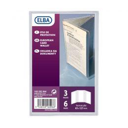 ELBA Ausweishülle, PVC, 3-fach, 0,20 mm, Format: 85 x 125 mm