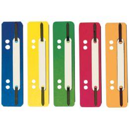 ELBA Heftstreifen, PP, rot, kurz, 35 x 150 mm, PP-Deckleiste