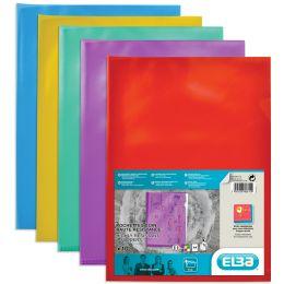 ELBA Sichthüllen, transparent, DIN A4, aus PVC, gelb