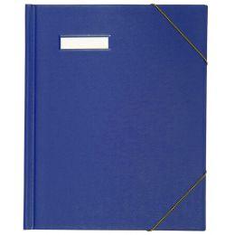 ELBA Umlaufmappe A4 aus PVC, mit Eckspannergummi, blau