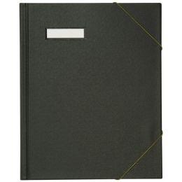 ELBA Umlaufmappe A4 aus PVC, mit Eckspannergummi, schwarz