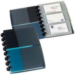ELBA Visitenkartenbuch PROLINE vario-zipp, PP, blau