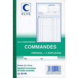 ELVE französisches Formularbuch Commandes, 210 x 148 mm