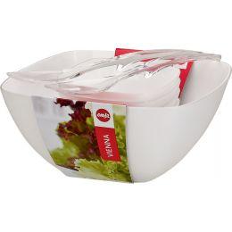 emsa Salat-Set VIENNA, 6-teilig, Kunststoff, weiß
