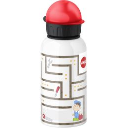 emsa Trinkflasche KIDS, Motiv: Labyrinth Boy, 0,4 Liter