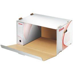 Esselte Archiv-Container Standard für Schachteln, weiß/rot