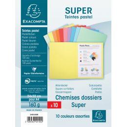 EXACOMPTA Aktendeckel SUPER 180, DIN A4, farbig sortiert