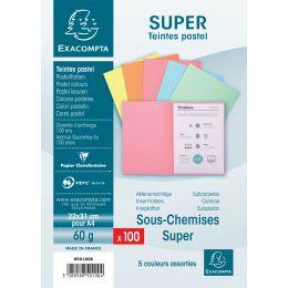 EXACOMPTA Aktendeckel SUPER 60, DIN A4, 60 g/qm, sortiert