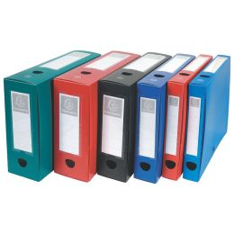 EXACOMPTA Archivbox mit Druckknopf, PP, 80 mm, schwarz