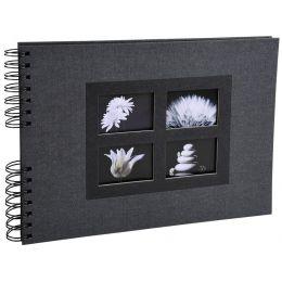 EXACOMPTA Foto-Spiralalbum Passion, 320 x 220 mm, schwarz