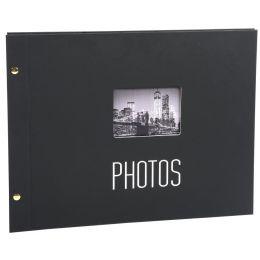 EXACOMPTA Schraubalbum-Einlagen, 360 x 285 mm, schwarz