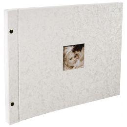 EXACOMPTA Schraubalbum-Einlagen, 360 x 285 mm, weiß