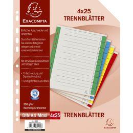 EXACOMPTA Trennblätter, DIN A4 Überbreite, rot