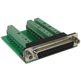 EXSYS Adapter SUB-D Kupplung auf Terminal Block