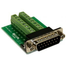 EXSYS Adapter SUB-D Stecker auf Terminal Block