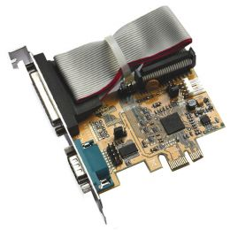 EXSYS Seriell/Parallel 16C550 SPP/EPP/ECP PCI-Express Karte