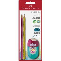 FABER-CASTELL Bleistift GRIP 2001 Set Trend, Blister