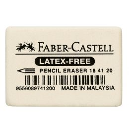 FABER-CASTELL Kautschuk-Radierer 7041-40, weiß