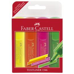 FABER-CASTELL Textmarker TEXTLINER 1546, 4er Etui