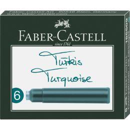 FABER-CASTELL Tintenpatronen Standard, türkis