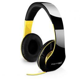 fantec Kopfhörer On-Ear SHP-250AJ, schwarz/gelb
