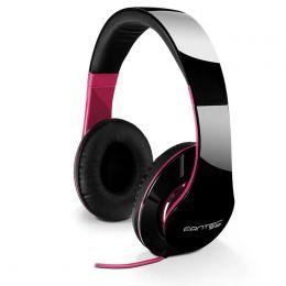 fantec Kopfhörer On-Ear SHP-250AJ, schwarz/pink
