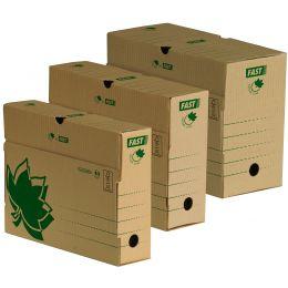 FAST NATURE LINE Archiv-Schachtel, aus brauner Wellpappe