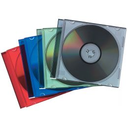 Fellowes CD-Leerhülle Slimline, transparent/schwarz