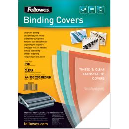 Fellowes Deckblatt, DIN A4, PVC, transparent, 0,15 mm
